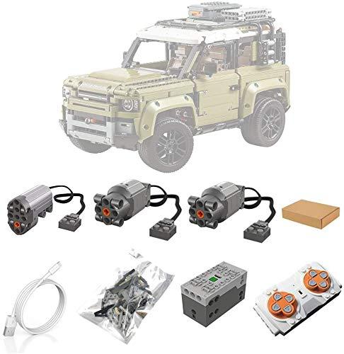 ZJLA Motori e Set Telecomando per Lego 42110 Technic Land Rover Defender, Accessori di aggiornamento per Lego Technic Land Rover Defender 42110 (Modello Non Incluso)