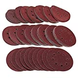 TOP 160Pcs / Set Discos de lijado de 5 pulgadas 125Mm Almohadillas de 8 agujeros 40-2000 Lijadora de grano, papel de lija