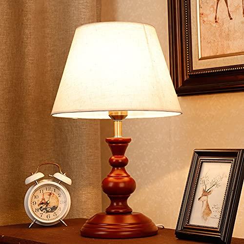 Zenghh Lámpara de mesita de alojamiento europea americana de la cama de la cama marrón de la noche de la noche de la mesa de la lámpara de la lámpara de la lámpara de la lámpara de la lámpara del pila