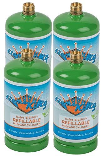 Flame King Refillable 1 lb Empty Propane Cylinder Tank - Reusable -...