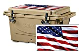 USATuff Wrap (Cooler Not Included) - Lid Kit Fits Cabelas Polar Cap 60qt - Protective Custom Vinyl Decal - USA Stars Color