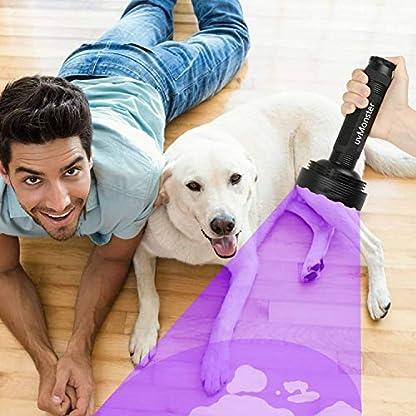 UV Blacklight Flashlight, Super Bright 128 LED Pet Dog Cat Urine Detector light Flashlight for Pet Urine Stains, UV Black light Flashlight for Bed Bugs, Scorpions Hunting 6