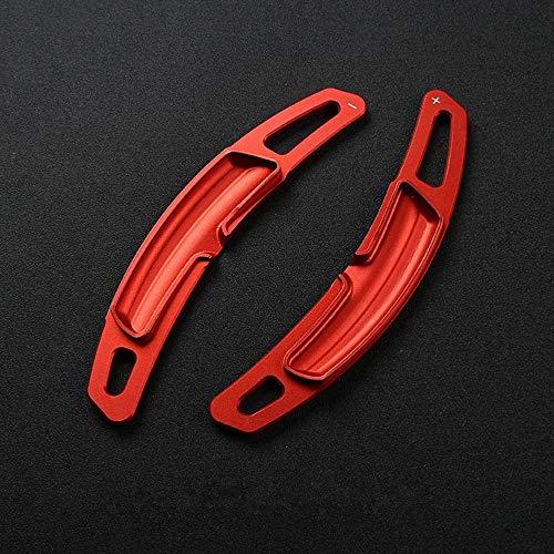 CYBHR Autozubehör Aluminiumlegierung Auto Lenkrad Schaltwippen Trim Aufkleber, für Porsche Panamera Cayenne Macan