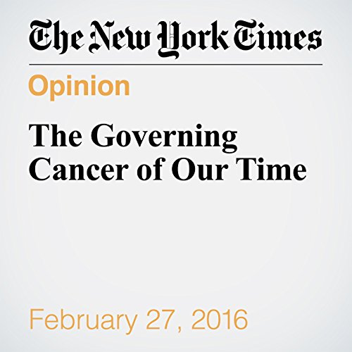 The Governing Cancer of Our Time audiobook cover art