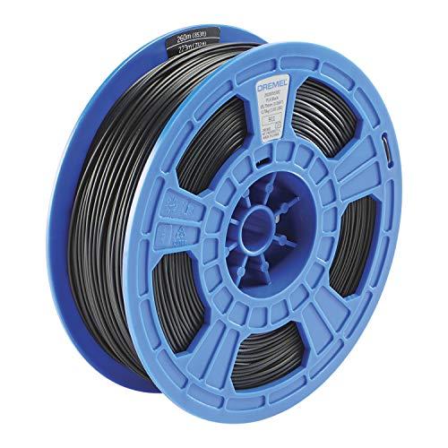 Dremel DigiLab PLA-BLA-01 3D Printer Filament, 1.75 mm Diameter, 0.75 kg Spool Weight, Color Black, RFID Enabled, New Formula and 50 Percent More per Spool