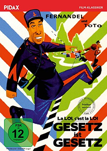 Gesetz ist Gesetz (La LOI c'est la LOI) / Komödie mit Fernandel (bek. als Don Camillo) und Totò mit dem Filmprädikat WERTVOLL (Pidax Film-Klassiker)
