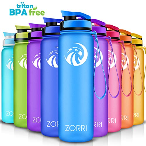 Best Sports Water Bottle 800ml/ 1L/ 600ml/ 1.2 Litre,BPA Free & Tritan & Leak Proof Lightweight Portable Reusable Bottles With Filter for Kids, Camping, Cycling, Hiking, Yoga, Running, Flip Top Lid