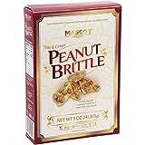 Mascot (1) Box Thin & Crispy Peanut Brittle - Freshly Roasted Gourmet Peanuts in a Sweet Delicious Crunch...