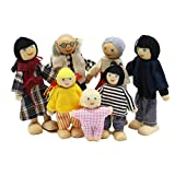 DFGH Muñecas de Familia con Muebles de Casa de Conjunto de Juguetes