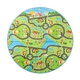 Ultrasport Spielteppich für Garten & Trampolin, wetterfeste und wasserabweisende Outdoor Spiel/Krabbel/Picknick/Campingdecke, Kinderspielteppich mit 2 Motivseiten, kälteisolierend und gepolstert