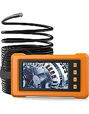 5,5 mm industriële endoscoop, KZYEE KZ2000 4,3 inch IPS-scherm met volledige weergave, 2800 mAh 1080 P HD Automotive Borescope-inspectiecamera IP67 waterdichte semi-rigide slangencamera met 8 GB TF-kaart - 33FT