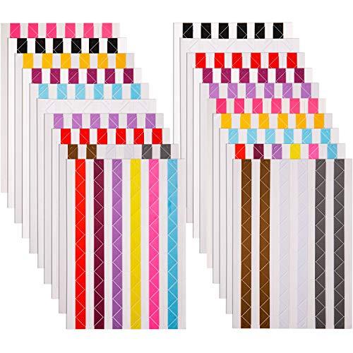Bememo 2040 Stücke Foto Ecken Selbstklebend für Scrapbook Bild Album (Mehrfarbig)