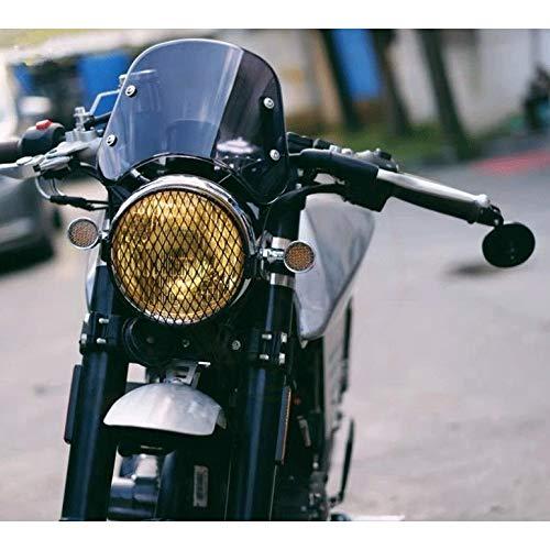 Parabrisas de motocicleta Motocicleta Deflector Viento 5-7 Pulgadas Motocicleta Retro Del Corredor Del Café Del Faro Del Parabrisas Del Visera Del Instrumento Fit For Yamaha XJR 1300 Suzuki GSX 1400 F