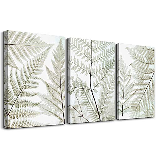 Black and white leaves landscape Canvas Prints Wall Art Paintings for Living Room Wall Artworks Pictures family kitchen Bedroom bathroom Wall decor, 12x16 inch/piece, 3 Panels Home Decoration posters