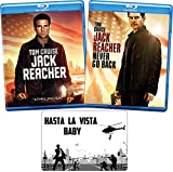 Jack Reacher: Complete Movie Series 1-2 Blu-ray Tom Cruise Collection with Bonus Art Card (Original and Never Go Back)