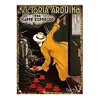 La Victoria Arduino Caffe Espresso 金属板ブリキ看板警告サイン注意サイン表示パネル情報サイン金属安全サイン