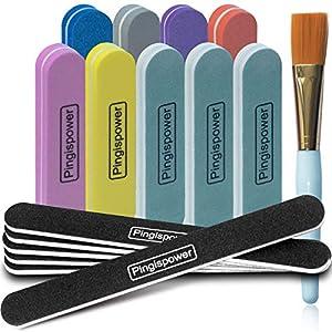 Beauty Shopping 16Pcs Nail Files and Buffer, Pingispower Professional Manicure Tools Kit, Art Care