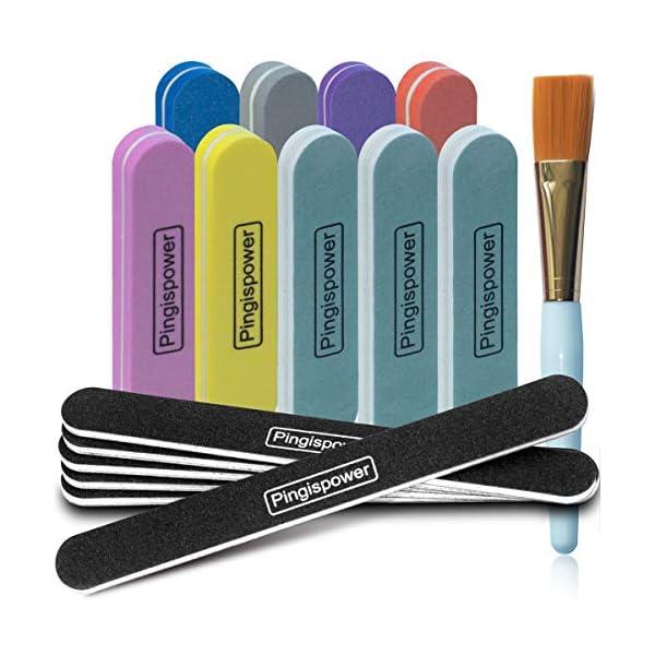 Beauty Shopping Nail Files and Buffer 16Pcs, Pingispower Professional Manicure Tools Kit, Art Care