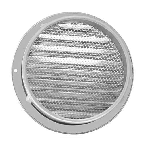 JEONSWOD Rejillas de ventilación de conductos Redondos de Rejilla de ventilación de Aire de Pared Exterior de Acero Inoxidable (Size : 120#)