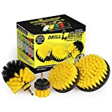 Drillbrush 4 Piece Nylon Power Brush Tile and Grout Bathroom Cleaning Scrub Brush Kit - Drill Brush...