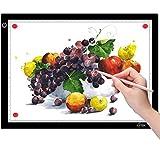 ICETEK Mesa de luz LED A4 para dibujar, mesa de luz ultrafina, atenuación continua, esquinas magnéticas para pintar, animación