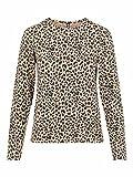 PIECES PCPOLLY LS Top Blusas, Warm Taupe/AOP:Leopardo, XS para Mujer