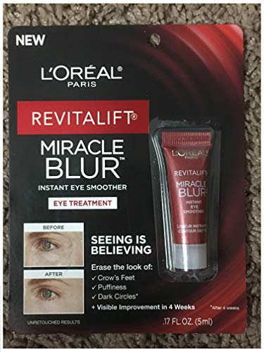 L'Oreal Paris Revitalift Miracle Blur Instant Eye Treatment Finishing Cream with Broad Spectrum SPF 30 Sunscreen 0.17 FL OZ (5ml)