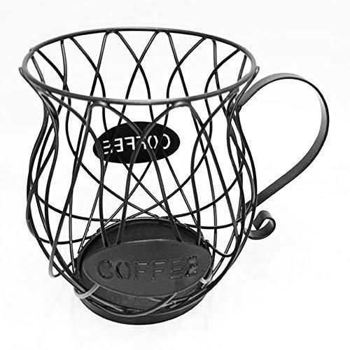 Jingjing Iron Art - Cestino porta capsule per caffè e frutta, colore: nero