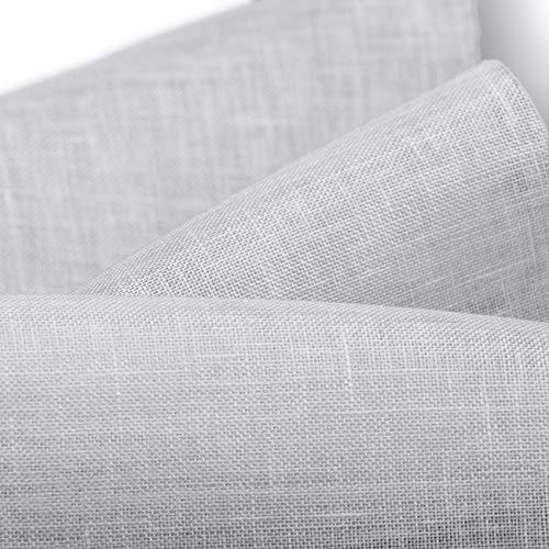 Cuore di lino - L-304-1 Tessuto garza di puro lino 100% h 330cm bianco 109 g/mq