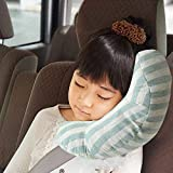 Littlechange シートベルトカバー 子供 シートベルトパッド シートベルト 枕 車用品 チャイルドシート 補助ベルト ストッパー ショルダーパッド 旅行 安全 (ブルー)
