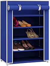 Sunbeam Multipurpose Portable Wardrobe Storage Closet For Shoes and Clothing 5 Tier/Fits 15 Pairs of Shoes Heavy Duty Non ...