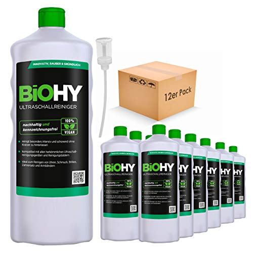 BiOHY Ultrasonic Cleaner (12 x 1l Bottle) + Dispenser   Intensive and...