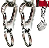 Sundesign Stainless Steel Dog Tag Quick Clips - Perfect for Dogs and Cats