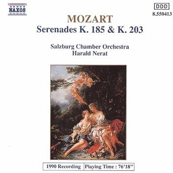 MOZART: Serenades K. 185 and K. 203