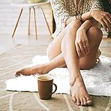 Teppich Wölkchen Lammfell-Teppich Kunstfell Schaffell Imitat | Schlafzimmer Wohnzimmer Kinderzimmer | Als Matte für Stuhl Sofa oder Faux Bett-Vorleger (Weiss - 55 x 80 cm) - 7