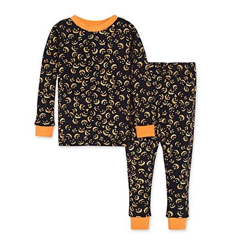 Burt's Bees Baby baby boys Pajamas, Tee Pant 2-piece Pj Set, 100% Organic Cotton and Toddler Pajama Bottoms, Lanterns in the Dark, 3T US