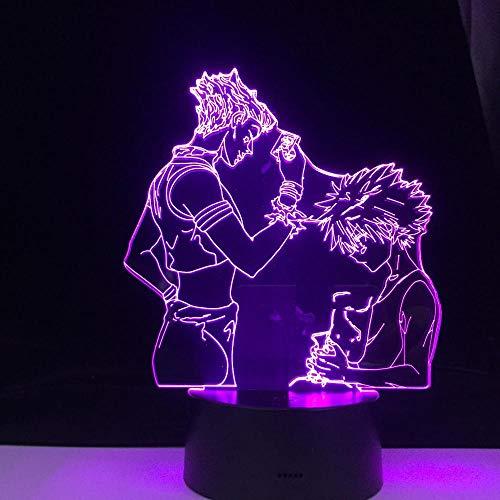 Luz De Ilusión 3D Luz De Noche Led My Hero Academia Dabi Lámpara De Mesa De Anime Para Adultos Y Niños Boku No Hero Académico Visual Cumpleaños Para Niños
