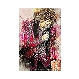 Poster sur toile Mick Jagger - Décoration murale - Pour salon, chambre à coucher - 30 x 45 cm - Sans cadre :