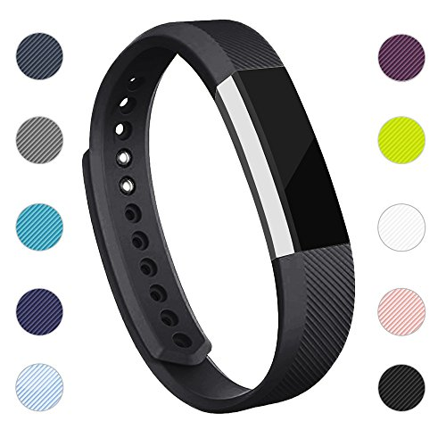 iGK Replacement Bands Compatible for Fitbit Alta and Fitbit Alta HR, Newest Adjustable Sport Strap Smartwatch Fitness Wristbands Black Small