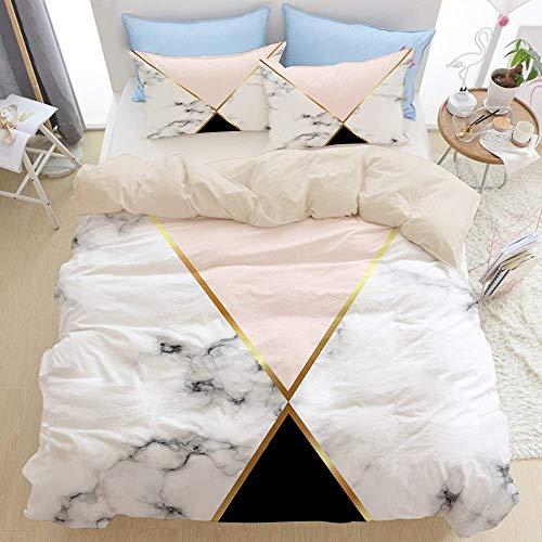 Juego de cama premium de 3 piezas, fondo geométrico de már