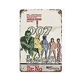 Vintage Poster 007 Canvas Art Metal Tin Sign...