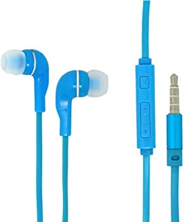 New Version Premium Super Bass Sound Headphone Earphone Headset HandsFree 3.5mm Jack w/Microphone & Volume Control - Compatible with Samsung Galaxy S7 Active (Plus Free Phone Stand Holder) - Blue