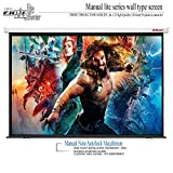 ELCOR® lite Series Manual Wall Type Projector Screen, 84-Inch Diagonal in 4:03 Aspect Format, (4' x 6') 1080P Full HD, 3D Active, 4k Technology