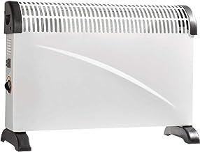 Velleman Calefactor eléctrico de 2000 W, convector de 3 niveles, con termostato y protección contra sobrecalentamiento, Perel