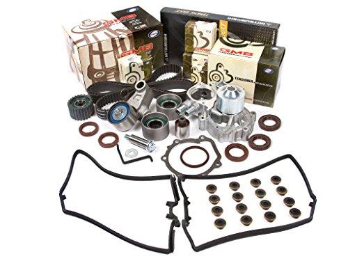 Evergreen TBK328MVC Compatible With 02-05 Subaru Impreza WRX Turbo 2.0 DOHC EJ20 Timing Belt Kit Valve Cover Gasket GMB Water Pump