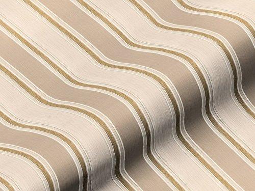 Tela de tapicería Eleganza rayas color beige, agua marina, no inflamable como robusto funda plástico, tapizado de plástico rayas para coser y beziehen, poliéster Trevira CS
