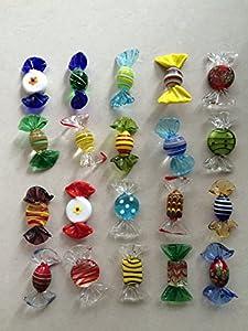 warm-smile 20 dulces de cristal de Murano, para bodas, fiestas de Navidad, dulces de decoración de regalo