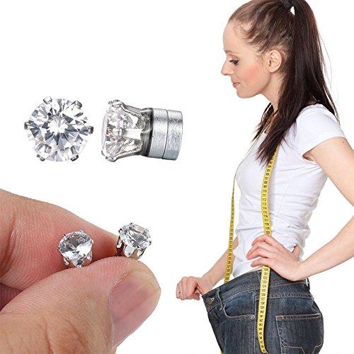 Shop-Story – Pendientes de diamante – Bio imán adelgazante – Reduce la fatiga y favorece la pérdida de peso natural