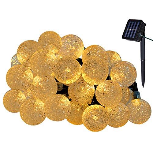 Yasolote, Solar Lichterkette Außen, Wasserdicht LED Außenlichterkette Kugeln, 4,5m 30 LED 8 Modi, Beleuchtung für Garten, Balkon, Pavillon, Terrasse, Rasen, Hof, Zaun, Hochzeit, Party Deko (Warmweiß)