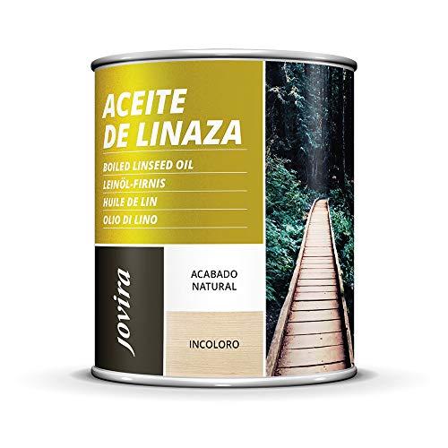 ACEITE DE LINAZA BARNIZ NATURA (100% PURO) Nutrición, protección y cuidado de la madera. (750 ML)